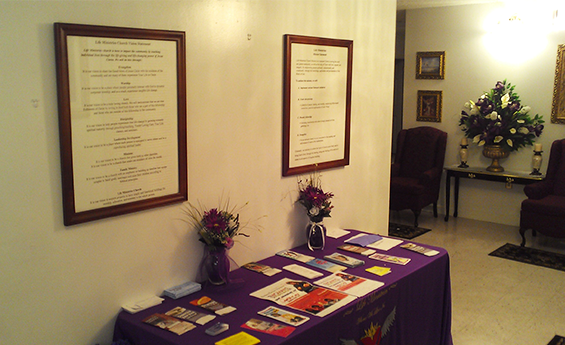 Live In Faith Everyday Ministries Table